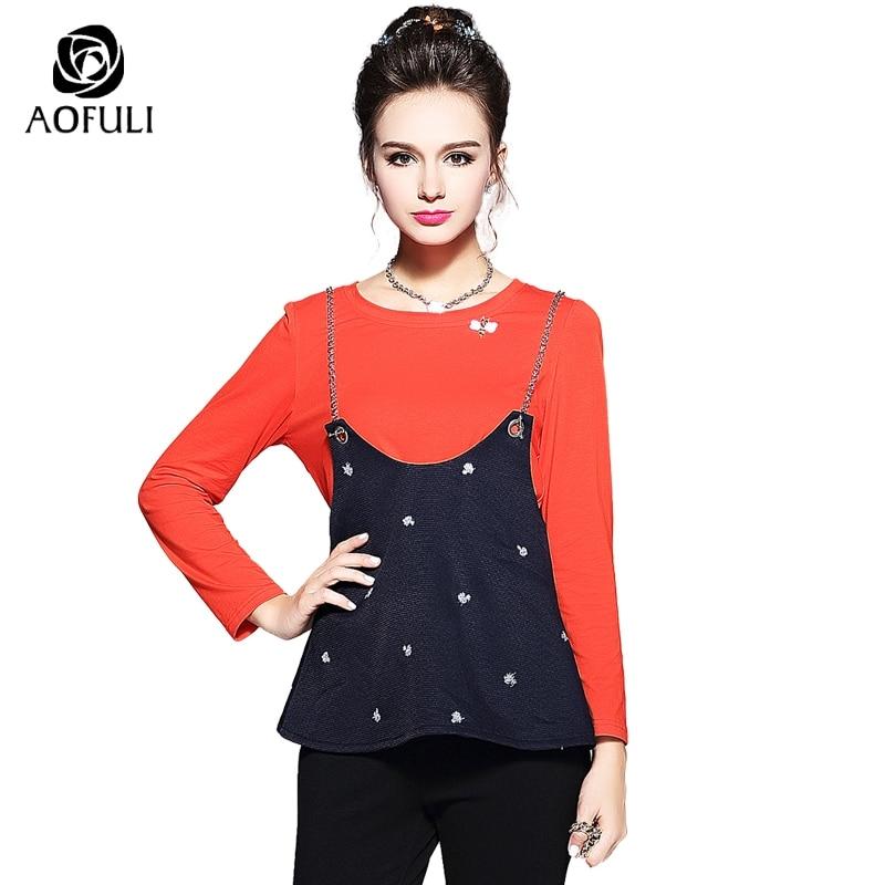 Bleu T S Floral Long Outfit 5xl Set Bee Taille Twinset Costume Train 3d Orange Tee shirt Broderie Sangle Grande 5806 Perlé Manches Tops rfBnfS