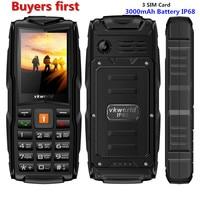 Original VKWorld New Stone V3 IP68 Waterproof 2 4 Inch Mobile Phone 3 SIM Cards 3000mAh
