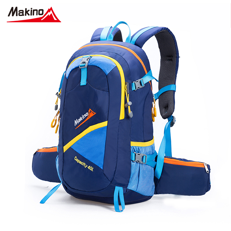 ФОТО Makino Hiking Backpacks Sports Bag 40L Big Capacity Outdoor Bags Climbing Women Men Hiking Bag Outdoors Hunting Travel Backpacks