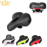 Cycling Bicycle Saddle Wide Thicken Seat Cushion Soft Silicone MTB Road Bike Saddle With Reflective Stickers