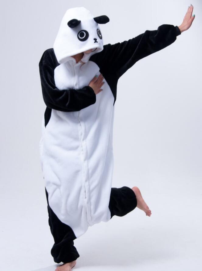 Anifail cartŵn wedi'i gyfuno Panda Pajamas Unisex Anifeiliaid Anwes Esgidiau Cwsg Jumpsuit Pajamas Kigurums Anifeiliaid anifeiliaid pyjamas
