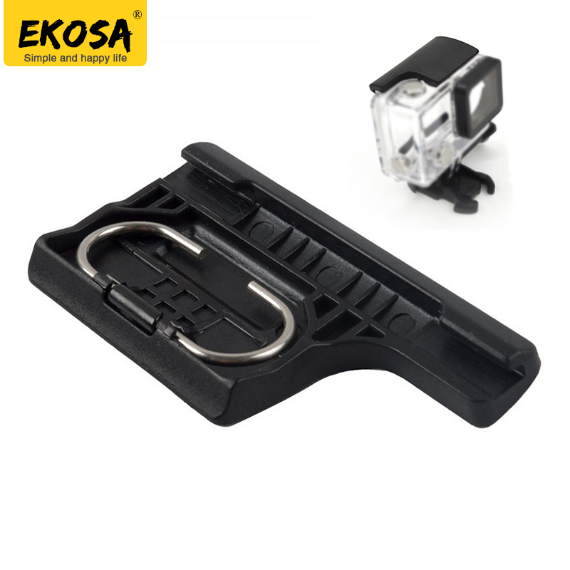 EKOSA Lock Buckle For Gopro Hero 4 3+ Waterproof Housings Case ABS Clip for go pro Hero 4 3+ Action Camera Gopro Accessories pannovo universal abs plastic bicycle bracket holder mountt for gopro hero 4 2 3 3 grey