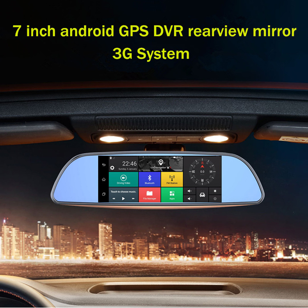 7 inch Android Car DVR font b GPS b font Navigation with 3G WIFI Bluetooth MP5