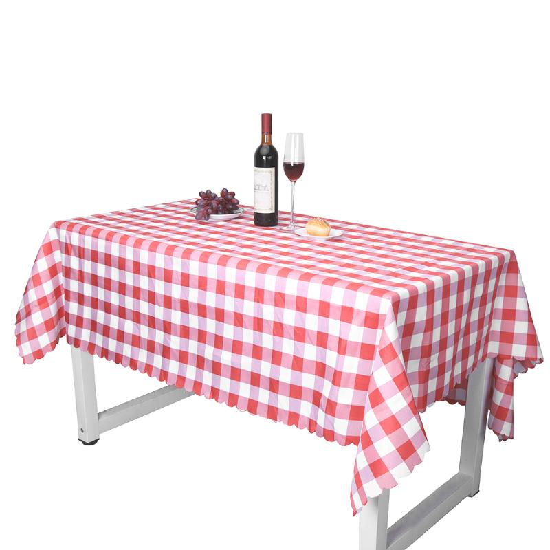 Village Style Plaid Print Waterproof Table Cover Tablecloth Kitchen Home Party Wedding Decoration Tea Table Cover