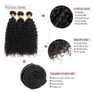 Image 5 - Elegancki indyjski włosy wyplata pojedynczy pakiet 10 do 28 Cal rozszerzenie perwersyjne kręcone ludzkie włosy wiązki można kupić 3 lub 4 zestawy brak Remy