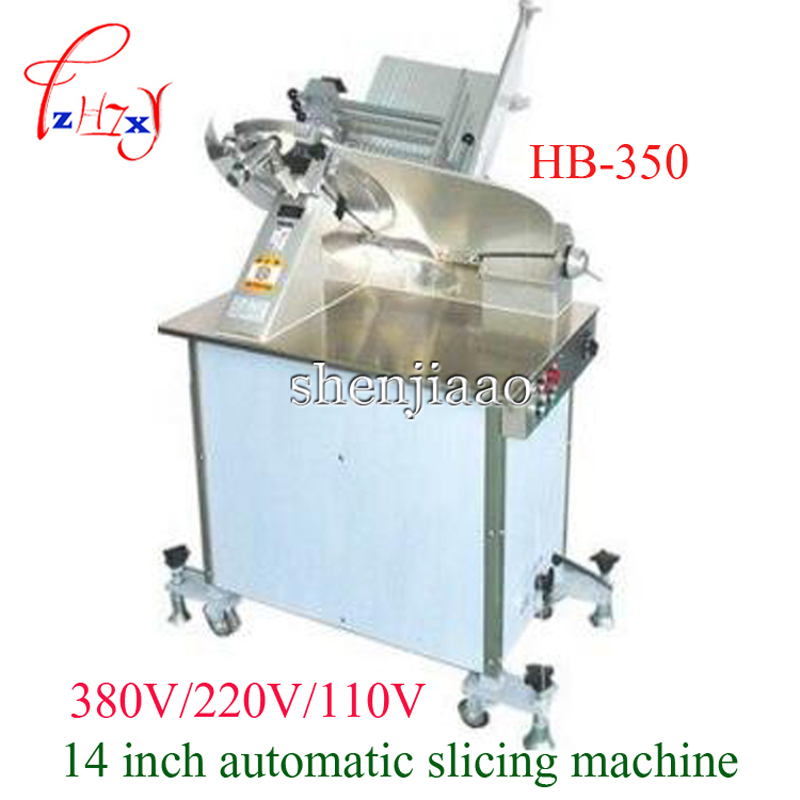 380V/230V/110V Commercial 14 Inch Automatic Electric Slicer Cut Freezer Machine Slice Of Meat Mutton Roll In Slicing Meat HB-350