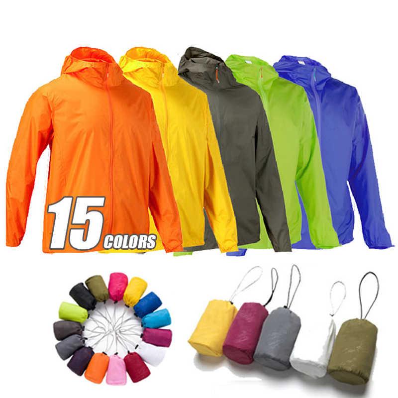 フード付き Windbreake ジャケット男性女性超軽量抗 Uv スキンジャケット屋外スポーツ速乾太陽保護ハイキングウインドブレーカー
