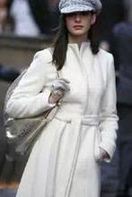 Anne Hathaway elegant French romantic sweet lace cardigan coat woolen coat