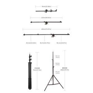 Image 5 - Uchwyt wspornika Selens głowica skrętna reflektor podparcie ramion tarczy z 2m lekki statyw podstawa tła uchwyt do statywu dla