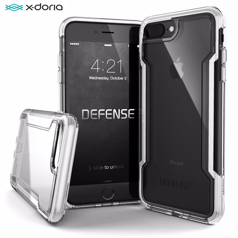X-Doria Defense Clear Phone Case For IPhone 7 8 Plus Case Military Grade Drop Tested Protective Coque For IPhone 7 8 Plus Cover