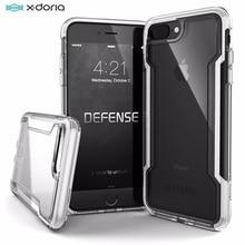 X doria Defence Coque de téléphone transparente pour iPhone SE2 7 8 Coque de protection de qualité militaire testée pour iPhone 7 8 plus