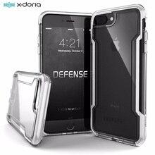 X doria funda protectora transparente para iPhone, funda protectora de grado militar probada con caída para iPhone 7 8 Plus