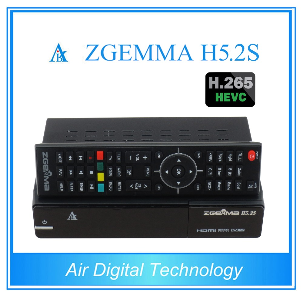 10 pcs/lot zgemma h5 2s twin DVB S/S2 support h 265 decoding with fastest  cpu running