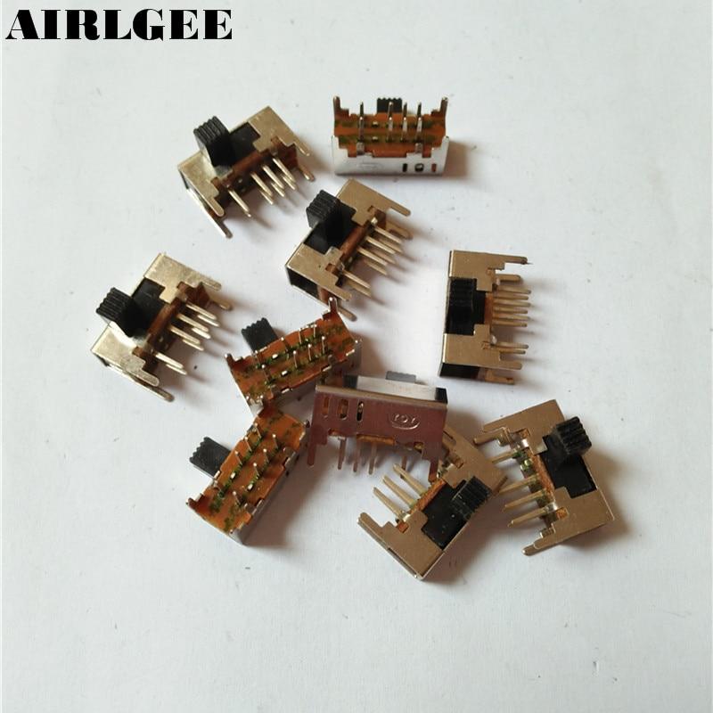 10 Pcs x Panel PCB 8 Pin 3 Position 2P3T DP3T Slide Switch Side Knob 0.5A 50V DC сверло oem 3 12v pcb 0 8
