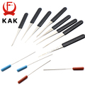 KAK High Quality 12 PCS Fold Pick Tool Broken Key Remove Auto Locksmith Tool Key Extractor Set Lock Hardware Handle DIY Tools