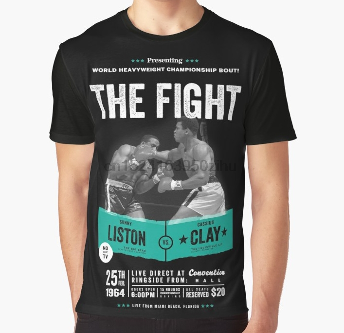 ee14b3a6 All Over Print T Shirt Men Funny tshirt Cassius Clay vs Sonny Liston Ali  Boxing Shirt Graphic T Shirt-in T-Shirts from Men's Clothing on  Aliexpress.com ...
