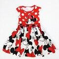 Minnie Mouse Vestido de Minnie Vestidos de Niña Vestido de Verano Bebé ropa Princesa bata vestido de Algodón de Punto de Dibujos Animados minnie 0-4Y