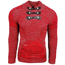 ZOGAA Men's Sweater Knitted Shawl Turtleneck Pullover Winter Hip Hop Streetwear High Quality Long Sleeve Man's Sweaters