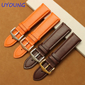 16mm18mm20mm21mm22mm24mm Genuine leather watchband replacement leather strap fine steel buckle