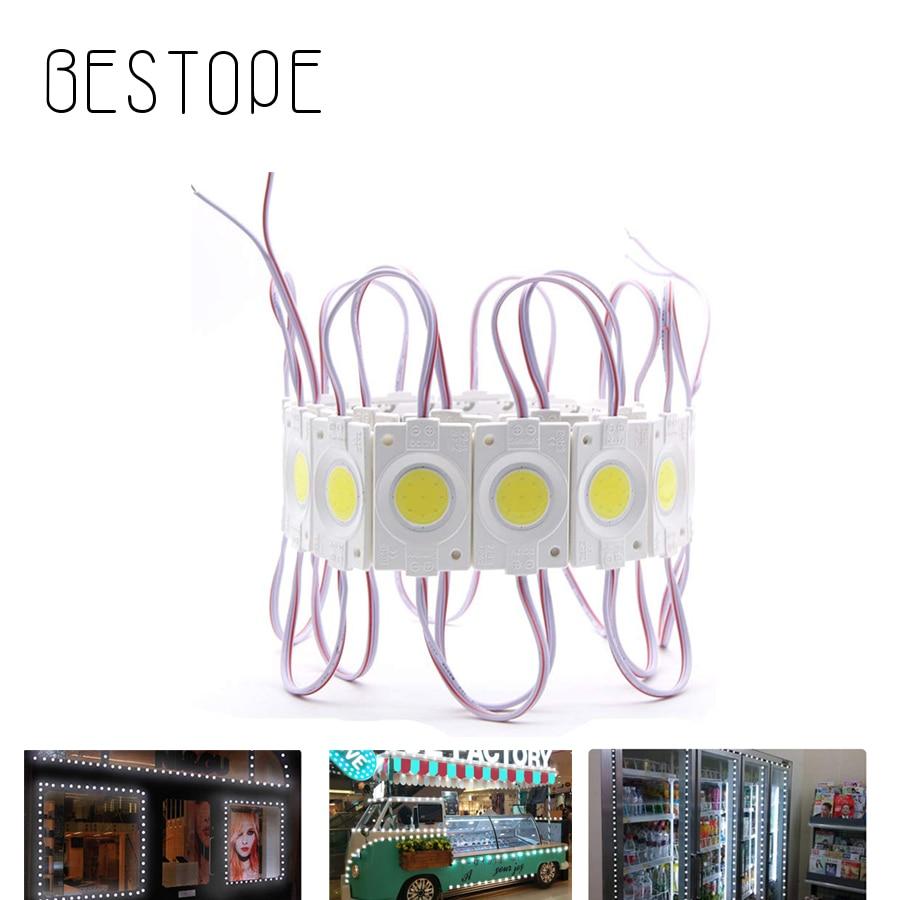 DIY módulo Led redondo COB LED señal carta 10 unids/lote módulo de luz DC12V impermeable publicidad verde blanco cálido blanco azul amarillo