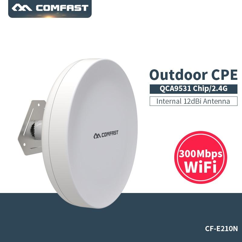 цена на 2Pcs COMFAST CF-E210N 300Mbps 2.4Ghz Mini Wireless Outdoor CPE AP Bridge WIFI Access Point 12dBi WI-FI Antenna Nanostation