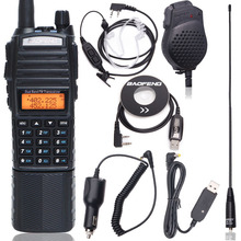 Baofeng UV 82 più di 8w Walkie Talkie 8Watt potente a lungo raggio 10 kmDual Band 3800mAh DC Connettore per caccia A Due Vie Radio