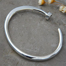 Famous Brand Bangle 925 Sterling Silver Rivet High Quality Opening Cuff Bracelets For Women 7.90mm 24.30G