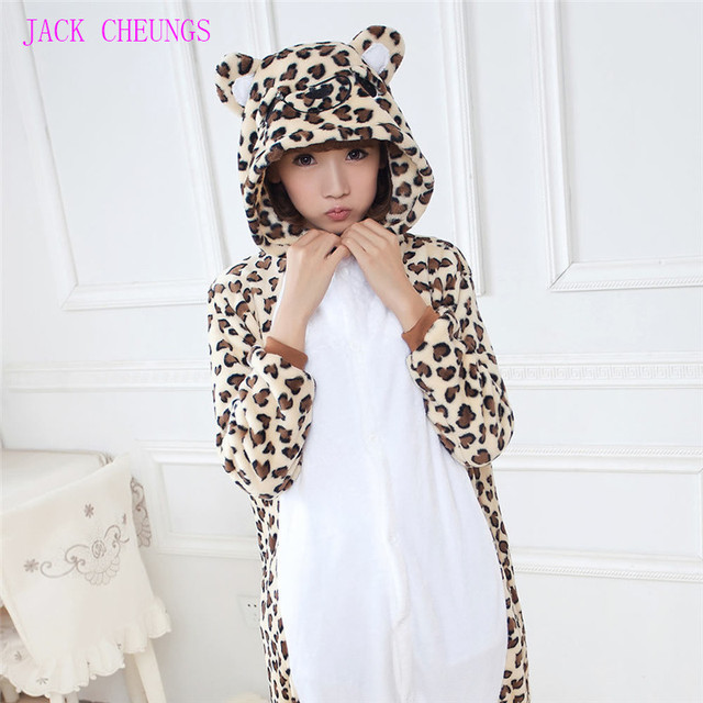 Kigurumi Leopard Cosplay Coustume Pajamas Cartoon Animal costume onesies Pyjamas Unisex pijamas