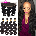 Ear To Ear Lace Frontal Closure with Bundles 7A Brazilian Virgin Hair Bundles With Lace Frontal Body Wave Lace Frontal Closure