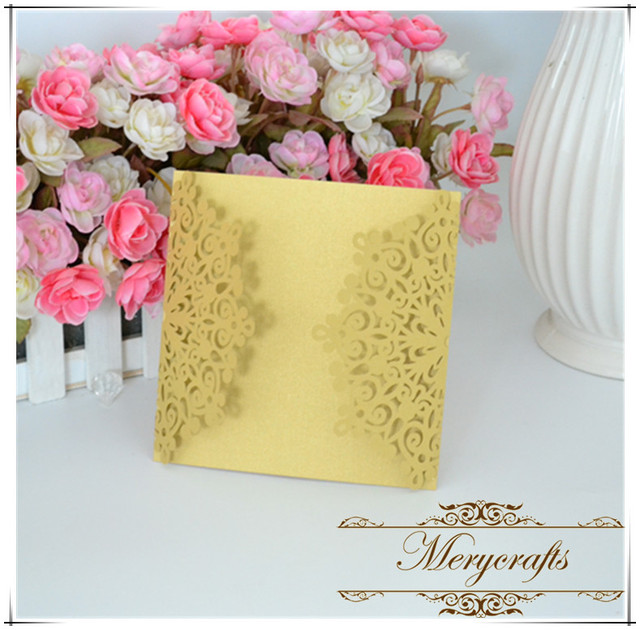 debut invitation card design light brown pearl color laser cut