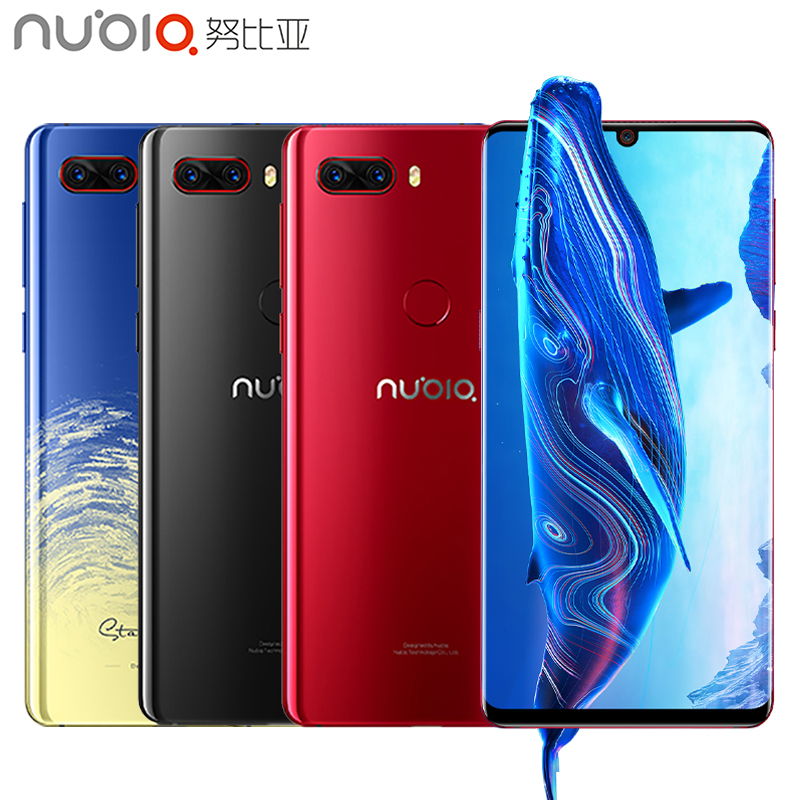 D'origine Nubia Z18 Mobile Téléphone 5.99 Goutte D'eau Écran 6 gb RAM 64 gb ROM Snapdragon 845 Octa Core android 8.1 3450 mah Smartphone