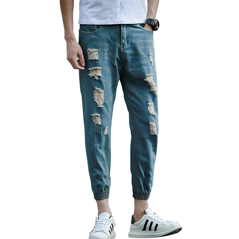 Cheap Zap - Buy u0026quot;Hot Fashion Ripped Jeans For Men Ankle-Length Youths Men Jeans Pants (Asian ...