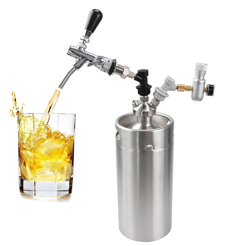 Stainless Steel Beer Mini Keg Set 12