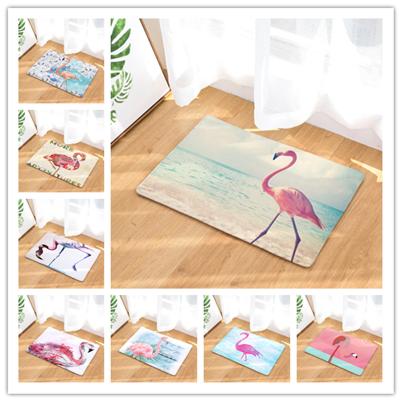 Flamingo Mats New Home Decoration Lovely Flamingo Carpet No Sliding Kitchen Carpet for Home Living Room Floor Mat