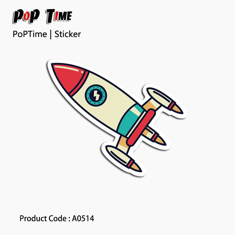 A0514 Small rocket model Emoji Stickers For Children Anime Funny Cartoon Home Decor Wall ...