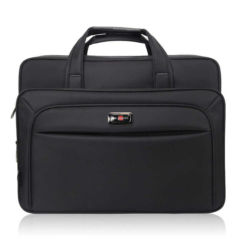 New Men Briefcase Laptop Bags Good Nylon Cloth Multifunction Waterproof 15.6