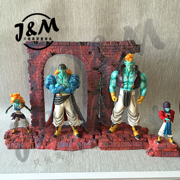 MODEL FANS JM 4pcs/lot Dragon Ball Z 30cm Bojack team gk resin action figure toy for Collection ...