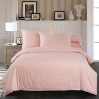 Hot Fleshcolor 100 Cotton Satin Stripe Textile Hotel Duvet Cover Single Quilt Cover Mattress Cover Super