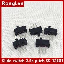 [SA] электронный переключатель постоянного тока маленький тумблер слайдовый переключатель макетная плата 2,54 шаг SS-12E01- 200 шт/лот