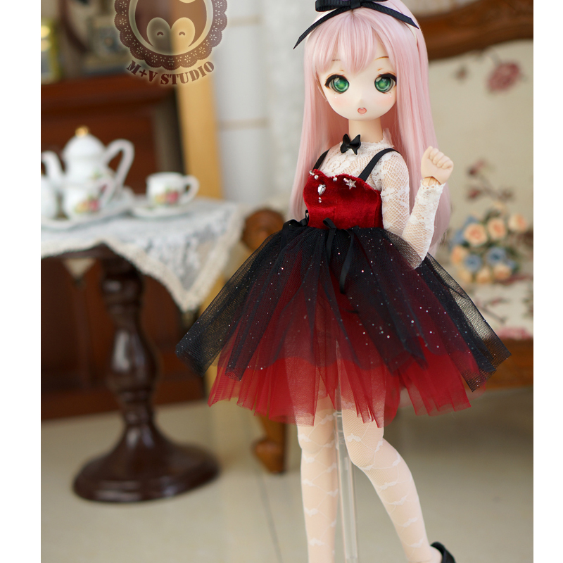 [Agent]NEW Red/Blue/Black sequins Small formal attire 1/4 MSD MDD BJD Doll Clothes