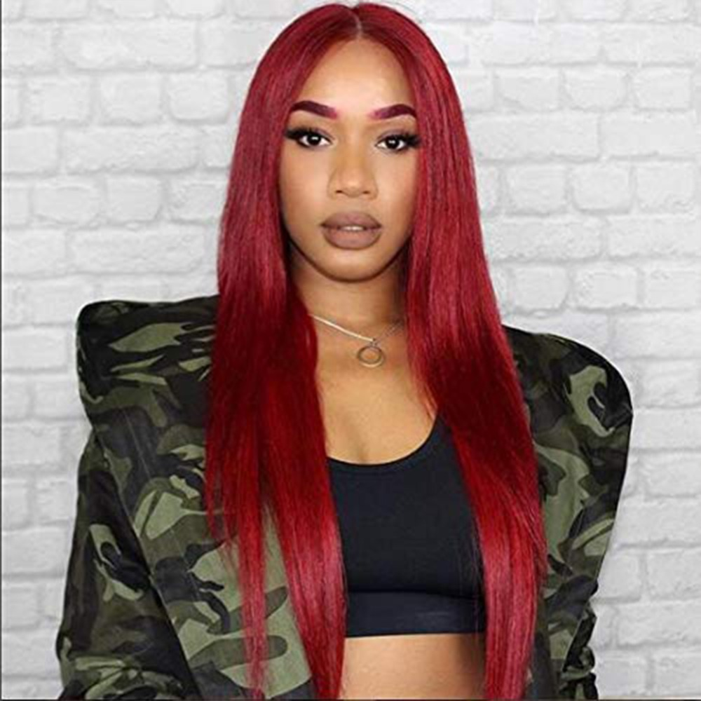 13x6 lace frontal wig red