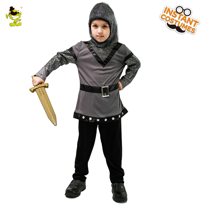 Boy's Knight Costume Masquerade Superhero Warrior Clothes Role Play Halloween&Christmas Supplier Decorations Knight Costumes