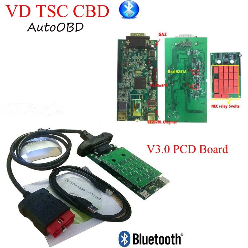 DHL 2018 V3.0 PCB ボードのための delphis VD ds150e Cdp Plus nec リレー 2015R3 keygen の bluetooth 診断ツール  グループ上の 自動車 &バイク からの 車の診断ケーブル & コネクタ の中 1