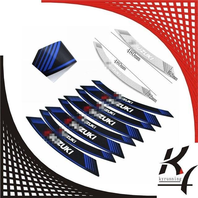 High quality motorcycle rim strips logo stickers wheel decals for suzuki gsxr gsxs all gsxr1000 750