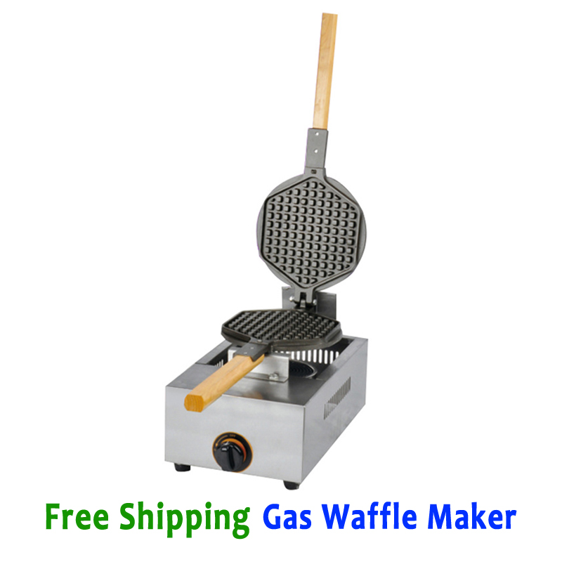 Free Shipping Waffle Baker Kitchen Appliance with non-stick waffle pan stainless steel waffle maker gas type waffle machine fast food leisure fast food equipment stainless steel gas fryer 3l spanish churro maker machine