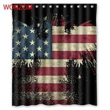 купить WONZOM 3D Polyester Fabric National Flag Shower Curtains with 12 Hooks For Bathroom Decor Modern Bath Waterproof Curtain Gift дешево