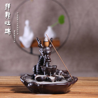selling back censer ceramic tea aroma stove large dragon reversal smoke smoked incense burner furnishing articles