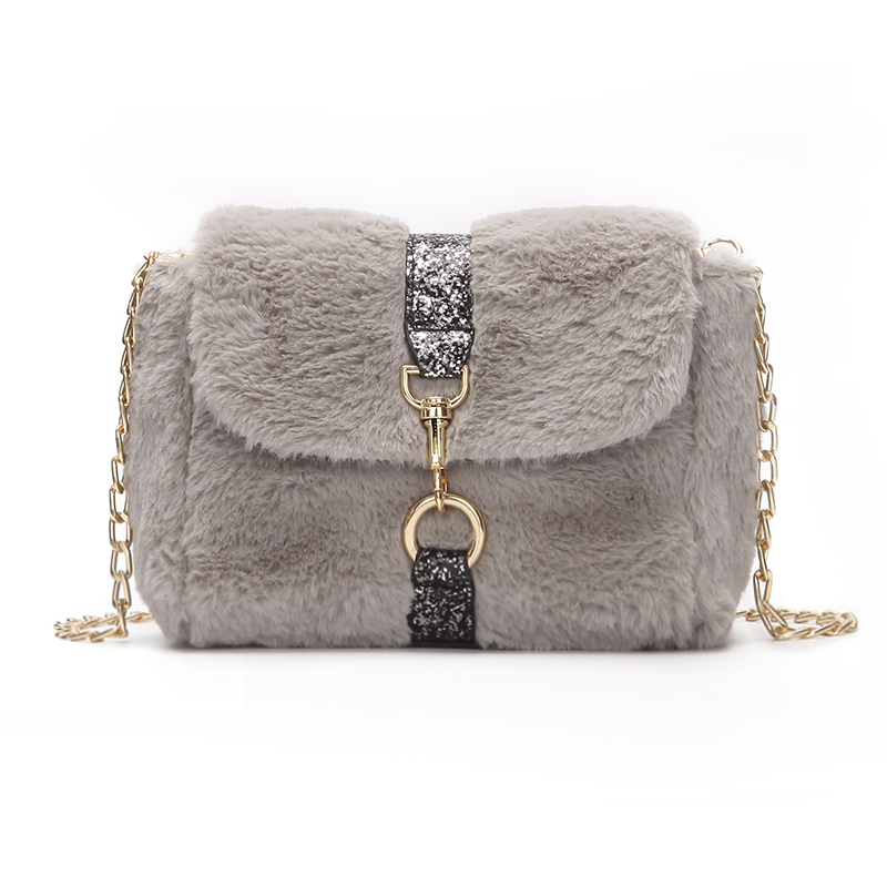 Detail Feedback Questions about New Winter Small Women Shoulder Bag Fashion  Solid Faux Fur Crossbody Chain Bag Casual Women Messenger Bag Sac on ... 169e014fff423