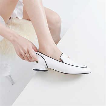 FEDONAS Brand Genuine Leather Shoes Woman High Heels Elegant Pumps Fashion Black White Classic Design Office Pumps New Shoes