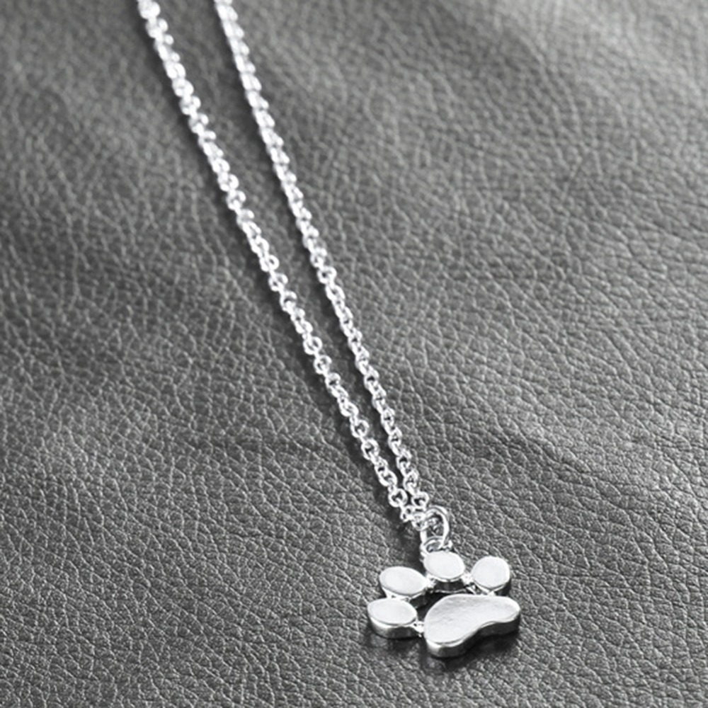 Footprints Chain Necklaces Pendants Jewelry For Women Sweater